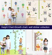 Height Chart Growth Chart Wall Sticker Style Inspiration To Your Childs Room 1 2days Delivery