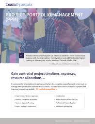 Project Portfolio Management Ppm Software Teamdynamix