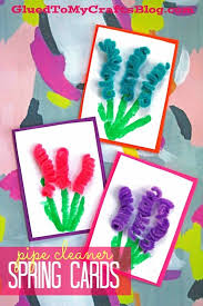 Spring Photo Cards Pipe Cleaner Spring Flower Cards