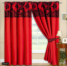 Red Bedroom Curtains Red Black Curtains