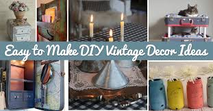 Small Picture 25 Easy to Make DIY Vintage Decor Ideas Cute DIY Projects