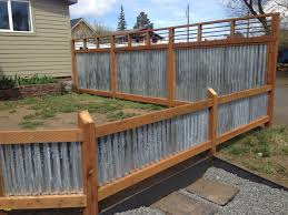 pristine fencing metal fence home u gardens geek panels drhouse inside snazzy corrugated metal fence applied to your home idea