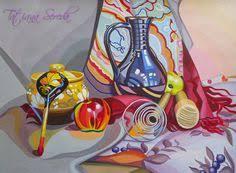 декоративный пейзаж гуашью Поиск в google Декоративная  декоративный натюрморт Поиск в google