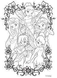 Cool Design Tinkerbell Fairy Coloring Pages Disney Fairies Page This