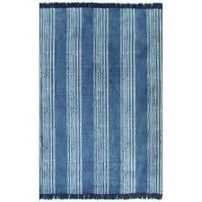 vidaxl kilim rug cotton 160x230 cm with pattern blue 1 4