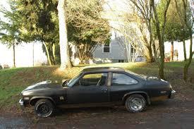 OLD PARKED CARS.: 1976 Chevy Nova SS.