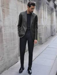 Dark Grey Pants With Light Grey Jacket How To Wear A Grey Blazer This Season