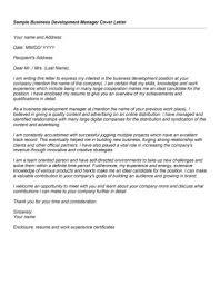 Cover Letter Sample Business Development Resumes Developer