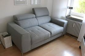 Zweisitzer Sofa Couch Hellgrau