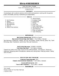 nail technician resume example inspa san leandro - Manicurist Resume