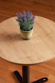 oak laminate table tops circle