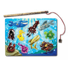 Melissa \u0026 Doug - Magnetic Wooden Fishing Game and Puzzle With Ocean Animal Magnets
