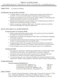 Functional Summary Resume Examples Language Skills Resume Sample
