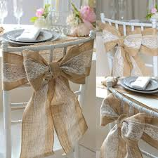 Vintage Wedding Decor Popular Burlap Chair Sash Buy Cheap Burlap Chair Sash Lots From