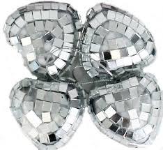 Mini Disco Ball Decorations Silver Mini Disco Mirror Ball Xmas Tree Bauble Home Party 33