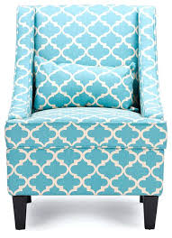 Blue Pattern Accent Chair Best Blue Fabric Armchair Lotus Contemporary Patterned Navy Pattern