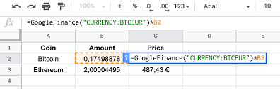 Alphabet's stock news page added a section to the day's prices for major cryptocurrencies. Track Your Stock And Crypto Performance With Google Spreadsheets By Masumi Mutsuda Coinmonks Medium