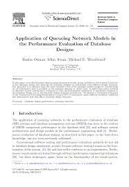 Application of Queueing Network Models in the Performance ...