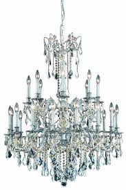 rosalia 24 light pewter chandelier clear swarovski elements crystal
