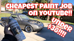 how to rattle can spray paint your car at home