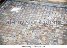 non slip shower floor tiles used for the flooring in a wet room bathroom
