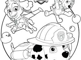 Paw Patrol Printable Coloring Pages Chase And Marshall To Print Of