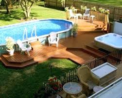Best Pool Decking Above Ground Swimming Pool Designs Shapes And