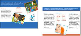 Child Care Brochure Design Child Care Brochure Template 30