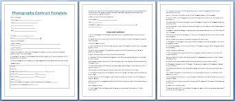 Wedding Photography Contract Form Wedding Photography Templates Contract Template Nz Chaseevents Co