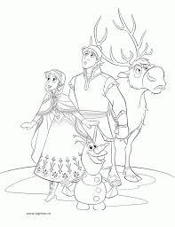 Fiecare fată va putea selecta cu ușurință un desen de colorat. Plansa De Colorat Cu Anna Kristoff Sven Si Olaf Din Frozen Regatul De Gheata Planse De Colorat