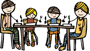 kitchen table clipart. family at dinner table clip art kitchen clipart
