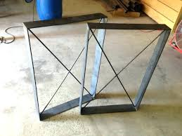 rustic table legs square metal industrial frames custom gallery of cast iron home depot