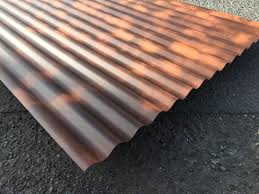 corrugated rust effect painted sheets accord steel cladding with regard to corrugated steel roofing sheets