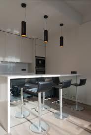 Small Kitchen Counter Lamps Modern Minimalist Kitchen With Unique Shaped Kitchen Counter Bar