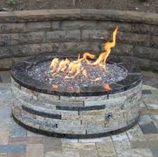 gas fire pit glass stones method of stacking the for with design 6