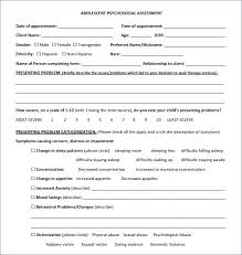 Psychosocial Assessment Template Classy Social Work Psychosocial Assessment Format Template Invoice Forms