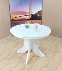 Auszugtisch Rund Weiß Matt Esstisch Esszimmertisch Küchentisch Ausziehbar Neu