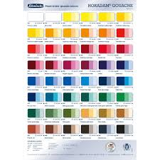 Schmincke Horadam Gouache Colour Chart Jacksons Art