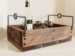Decorative Serving Trays With Handles Rustic Tray Industrial Wooden Tray Decorative Tray Serving Tray 63