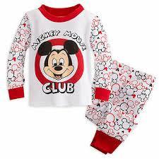 Disney Store Mickey Mouse Club Baby Boys Pj Pal Pajamas Size 0 3 3 6 Months New Ebay