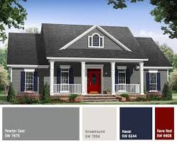 red door Gray exterior house painting color trend - 7 paint trends to look  for in 2015