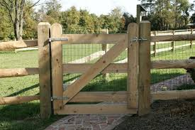 farm fence gate. Wood Fence Gate Build Farm