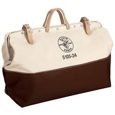 klein tools 24 in high bottom canvas tool bag