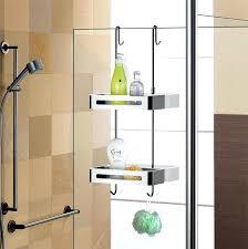over the shower door caddy over door double shelf hanging shower baskets zenna home over door over the shower door caddy