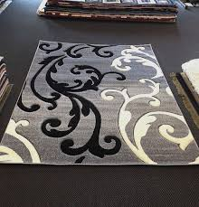 black and white rug 5x7 for home decorating ideas awesome modern black and white rug black