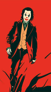 Joker Red iPhone Wallpaper