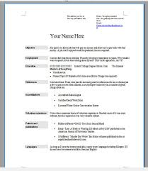 Free Sample Resume Template Cover Letter And Writing Tips For 25