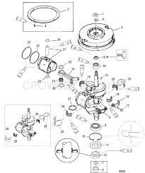 Crankshaft piston flywheel