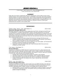 Resume Examples For Restaurant Manager Resume Example Free