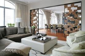 ... Living Room, Impressive Rooms With Unique Interior Design Ideas Living  Wall Divider Wood Designs: ...
